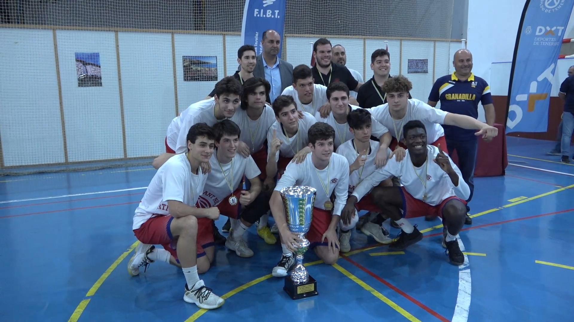San Nicolau Kyria e Iberostar Tenerife, primero y segundo puesto en el III Torneo Nacional de Baloncesto Junior